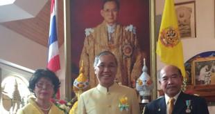 เมื่อวันที่ 6 ธ.ค. ฉลองวันพ่อแห่งชาติ 88 พระชนมพรรษา พระบาทสมเด็จพระเจ้าอยู่หัว ณ วัดไทยดีซี เอกอัครราชทูต พิศาล มาณวพัฒน์ ให้เกียรติร่วมถ่ายรูปกับวิชัย มะลิกุลและภริยา