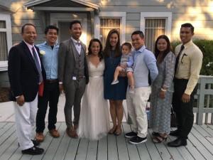 """วิทยา/ทองสุข หอมทรัพย์ บินไปซานฟรานซิสโกเมื่อวันที่ 21 สิงหาคม 2016  งานแต่งลูกชาย Erik กับเจ้าสาว Lauren """"สยามมีเดีย"""" ขอแสดงความยินดี"""