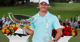 """""""Rory Mcllroy"""" โปรกอล์ฟหนุ่มวัย 27 ปี จาก..ไอร์แลนด์เหนือ..คว้าถ้วยแชมป์หลังจากเพลย์ออฟเอาชนะ..Ryan Moore..โปรกอล์ฟหนุ่มของอเมริกา หลุมที่ 4 คว้าแชมป์กอล์ฟรายการ..TOUR Championship..แถมด้วยถ้วยแชมป์..FedExCup..พร้อมกับเงินรางวัลอีก10 ล้านเหรียญสหรัฐฯ..."""