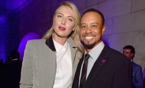 """Tiger Woods.. นักกอล์ฟคนดังมืออันดับหนึ่งของโลกในอดีตดูเหมือนจะมีอาการแพ้กับสาวผมบลอนด์เป็นพิเศษ มีข่าวว่ากำลังปลูกต้นรักกับ..""""Maria Sharapova"""".. นักเทนนิสสาวพราวเสน่ห์ที่เวลานี้โดนห้ามลงการแข่งขันหลังจากตรวจพบสารต้องห้ามทั้งสองคนมีโอกาสได้พบกันและสานสัมพันธ์กันในงานการกุศลที่มหานครนิวยอร์ค อาทิตย์ที่แล้วผ่านมา"""
