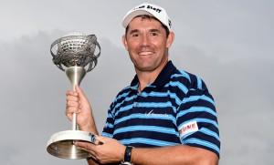"""""""2016 Portugal Master"""" แชมป์เปี้ยน นักกอล์ฟหนุ่ม..ชาวไอริช.. Padraig Harrington.. คว้าแชมป์รายการของ..European Tour.. ได้เป็นครั้งแรกในรอบ 8 ที่ผ่านมา"""
