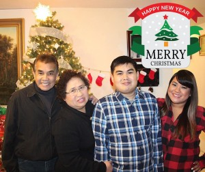 Merry Christmas from my family to yours...wishing everyone a happy and safe holiday with your loved ones  with Paichit Tongtip and Kanjana Tongtip.