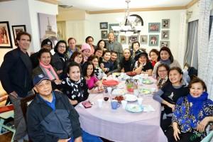 """จุฑาภรณ์ """"ดำ"""" ไชยรัตน์ติเวช นายกสมาคมไทยปักษ์ใต้ จัดงานปาร์ตี้ฉลองปีใหม่และวันเกิดให้คน เดือนมกราคม&กุมภาพันธ์ ที่บ้านพักในเมืองนอร์ทฮอลลีวูด มีเพื่อนๆ กว่า 50 ชีวิตไปร่วมเมื่อวันที่ 2 มกราคม 2017"""