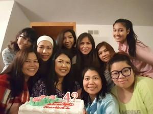ฉลองวันเกิด สุวิชา บุญชู พร้อมกับเพื่อนสนิท จัดงานฉลองวันเกิดที่บ้าน เมือง Pomona เมื่อวันอาทิตย์ที่ 22 มกราคม 2017 ที่ผ่านมา