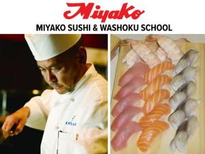 ข่าวดี! สำหรับผู้ที่สนใจเรียนทำซูชิ Miyako Sushi & Washoku school โรงเรียนซูชิที่ดีที่สุดในยูเอสเอ โดย คัทสึ-ย่า เปิดคอร์สสอนทำซูชิ วันที่ 6-31 มีนาคม 2017 สมัครด่วนได้ตั้งแต่วันนี้ โทร. 213-437-2124