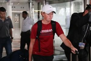 """ตามมาด้วย..""""Stacy Lewis""""..นักกอล์ฟสาวภาพบน โปรสาว LPGA ของ U.S.A.อีกคนอดีตมืออันดับที่ 1 ของโลก ก็เดินทางถึงสนามบินสุวรรณภูมิ จังหวัดสมุทรปราการ ในเวลาเดียวกัน"""