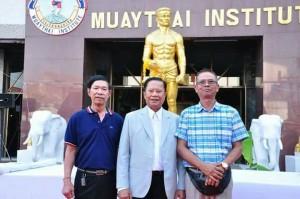 สานิต นาคมี ไปวาเคชั่นเมืองไทย March 2017 แวะเยี่ยม 2น้าชาย(กลาง) อำนวย เกษบำรุง เจ้าของสนามมวยรังสิต&รร.สอนมวยไทยนานาชาติ และ(ขวาสุด) พ.ต.อ.วิชัย ปฏิทัศน์ อดีตผู้กำกับการรร.ตำรวจภูธรภาค 7