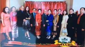 น.ท.วรรณพร เมนเซอร์ President of Thai-American Association at San Diego และ ดนัย เงาจีนานันท์ ไปร่วมงานปีใหม่ชาวลาวในแซนดิเอโก้ โดยมี น.พ.สมบัติ แสนทอง & ผู้นำชุมชนลาวให้การต้อนรับอย่างอบอุ่น เมื่อ 8 เมษายน 2017 ที่ Jacobs Center San Diego, CA