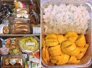 ส่งขนมไทยไปต่างรัฐ พร้อมรับสั่งทำข้าวเหนียวมะม่วงสำหรับงานปาร์ตี้-งานอีเว้นท์ต่างๆ สามารถจัดขนมไทยๆ ให้ได้ทุกงบประมาณ สนใจสั่งได้ที่ บ้านขนมไทย ในฮอลลีวูด 323-580-4121, 323-871-8030, text: 323-580-4121, Line ID: bkthollywood, www.bhankanomthai.com