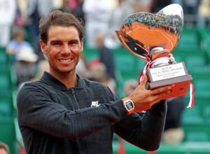 """Rafael Nadal .. ผงาดคว้าแชมป์รายการ..""""Monte Carlo""""..เป็นครั้งที่ 10 มาครอบครองอย่างง่าย ในอดีตก็เคยครอบครองแชมป์รายการนี้ มา 8 สมัยซ้อน ระหว่างปี 2005-2012 .. ขณะนี้อยู่อันดับที่ 5 ของโลก .."""