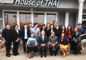 นายพิศาล มาณวพัฒน์ เอกอัครราชทูตไทย ประจำสหรัฐฯและ ธานี แสงรัตน์ กงสุลใหญ่แอล.เอ.พบกับผู้นำชุมชนไทยในแซนดิเอโก้ อาทิ ดนัย เงาจีนานันท์ -น.ท.วรรณพร เมนเซอร์ นายกสมาคมไทยอเมริกันและเอเชี่ยนแห่งแซนดิเอโก้และนิกกี้ สัมมาวดี มาร์ นายกหอการค้าไทย แห่งแซนดิเอโก้ เมื่อวันที่  พฤษภาคม 2017