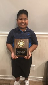 ขอแสดงความยนดีกับ ดช.นโม แซ่จิว รุ่นอายุ 7-8ปี ได้รับรางวัลนักกอล์ฟยอดเยี่ยมประจำปี 2016 ของ Palm Beach County รัฐฟลอริดาจากการทำคะแนนรวมสูงสุด และผลโหวดจากสตาฟและเพื่อนนักกอล์ฟ