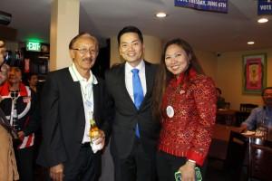 """สื่อไทยสองฉบับ """"สยามมีเดีย และ เสรีชัย"""" รับคำเชิญของ Robert Lee Anh ผู้สมัครชิงตำแหน่ง US Congress 34 District ไปทำข่าวการเลือกตั้ง at La Fonda Restaurant Wilshire Blvd., L.A.  June 6, 2017"""