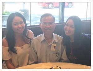 """วลัยลักษณ์ """"โบ"""" แจ่มจันทร์ และ วรินทร์ """"บี"""" นิวเนส ลูกสาว นรินทร์ แจ่มจันทร์ พาคุณพ่อไป ทานLobster ในวันพ่อ ที่ร้านอาหารจีนในเมือง San Gabriel , CA 18 June 2017"""