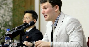 "(FILES) This file photo taken on February 29, 2016 and released by North Korea's official Korean Central News Agency (KCNA) on March 1, 2016 shows US student Otto Frederick Warmbier (R), who was arrested for committing hostile acts against North Korea, speaking at a press conference in Pyongyang.   US student, Otto Frederick Warmbier, evacuated from North Korea has died on June 19, 2017 according to his family. / AFP PHOTO / KCNA / Handout / North Korea OUT / REPUBLIC OF KOREA OUT --- RESTRICTED TO EDITORIAL USE - MANDATORY CREDIT ""AFP PHOTO / KCNA VIA KNS"" - NO MARKETING NO ADVERTISING CAMPAIGNS - DISTRIBUTED AS A SERVICE TO CLIENTS  THIS PICTURE WAS MADE AVAILABLE BY A THIRD PARTY. AFP CAN NOT INDEPENDENTLY VERIFY THE AUTHENTICITY, LOCATION, DATE AND CONTENT OF THIS IMAGE. THIS PHOTO IS DISTRIBUTED EXACTLY AS RECEIVED BY AFP. ---EDITORS NOTE--- RESTRICTED TO EDITORIAL USE - MANDATORY CREDIT ""AFP PHOTO/KCNA VIA KNS"" - NO MARKETING NO ADVERTISING CAMPAIGNS - DISTRIBUTED AS A SERVICE TO CLIENTS"