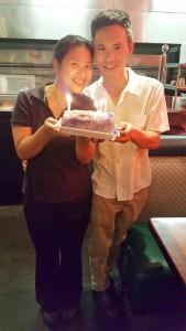 Jin Mao Li ฉลองวันเกิดให้ภรรยาสุดที่รัก สุวิมล ลี ที่เกิดเดือนกรกฎาคม ที่ร้านอาหารจีน Moon Wok เมือง Valencia เมื่ออาทิตย์ที่ผ่านมา