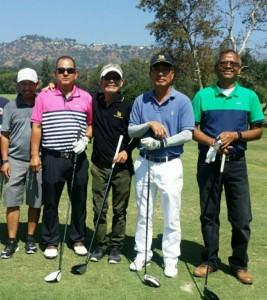 """แก๊งกอล์ฟวันพุธ ไปร่วมเล่นกอล์ฟกับ """"เอก"""" พงษ์ศรี พ่วงจาก นายกสมาคมไทยกอล์ฟ ที่ Brookside Golf Course , Pasadena CA เมื่ออาทิตย์ที่ผ่านมา"""