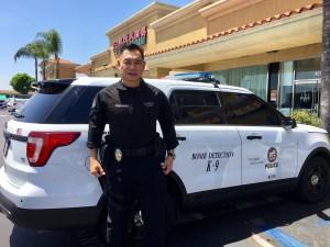 พีท เพิ่มแสงงาม ตำรวจไทย-อเมริกา แวะรับประทานอาหารย่าน Temple City หลังปฏิบัติภาระกิจกู้ระเบิดกับสุนัขตำรวจคู่ใจ เมื่อเสาร์ที่ 29 กรกฎาคม 2017