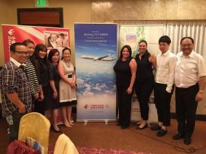 ทีมงานสตาร์ทัวร์ไปร่วมฟังการแนะนำเครื่องบินลำใหม่ Boeing 777-300ER  เมื่อต้นเดือนสิงหาคม 2017 ที่จะนำมาใช้บินระหว่างLAX-BKK เพื่อนไทยท่านใดที่มีโปรแกรมจะเดินทางกลับเมืองไทย รีบยกหูจองตั๋ว ได้ที่สตาร์ทัวร์ โทร. 323-644-1063 จองผ่านสตาร์ทัวร์ไม่ต้องกลัวว่าจะไปตกเครื่องที่เมืองจีน เพราะผิดแอร์พอร์ต เจ้าหน้าที่อาวุโสโทนี่ รับประกัน