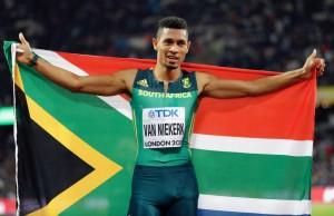 "Van Niekerk...นักวิ่งชาวอัฟริกาใต้ที่มี คุณยายเขาเองวัย 70 ปีเป็นโค้ชผู้ฝึกสอนให้เขาเมื่อวัยเยาว์ก่อนเดินมาแข่งขัน..""Olympic""..ครั้งล่าสุดเจ้าของ สถิติโลก และ โอลิมปิก 400 เมตร 43.03 seconds..อาจจะเป็นความเร็ว ที่อยากจะแตะต้องหรือจะทำลายสถิติลงได้อีกแสนนาน วิ่งเข้าเส้นชัยอย่างสบาย ในการแข่งขัน ชิงแชมป์โลก 400 เมตร ด้วยเวลา 43.98 วินาที  เมื่ออาทิตย์ที่แล้ว การแข่งขันกีฑาชิงแชมป์โลก ที่อังกฤษ อาจจะเป็นดาวดวงใหม่ที่น่าจับตามองของวงการกีฑาโลกคนต่อไปหลังจากที่ ซูเปอร์สตาร์..Usain Bolt..แขวนรองเท้าไปเมื่ออาทิตย์ที่แล้วผ่านมา.."