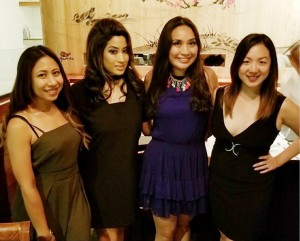 Happy birthday to Elnie Vanatim (2nd from left) Celebrated at Chaya Susui restaurant in Downtown LA with Jennifer Ing aram and Sue Krobthong on Oct 15,2017