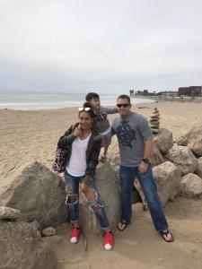 Strong Family is US foundation, God bless America: Tarn, Tyler and David Burnett at the beach in Ventura, CA. Nov 12,2017