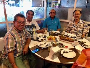 จากซ้าย จุก, ปุ้ม,แป๊ว และ แตน พบกันที่ร้านอาหารเพลิน ถนนวิภาวดีฯ กรุงเทพฯ เมื่อวันที่ 16 ธันวาคม 2017